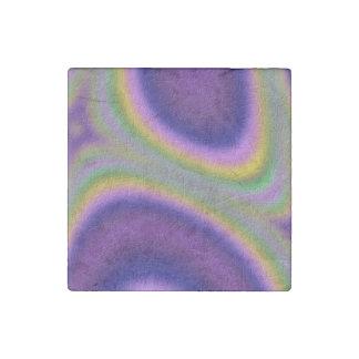 half circle line pattern stone magnet