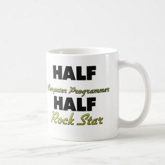 Half Computer Programmer Half Rock Star Mug