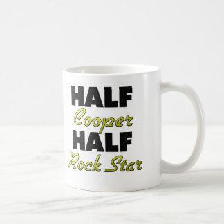 Half Cooper Half Rock Star Basic White Mug