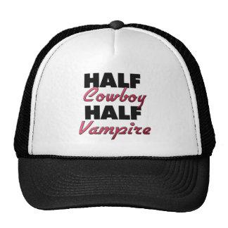 Half Cowboy Half Vampire Mesh Hats
