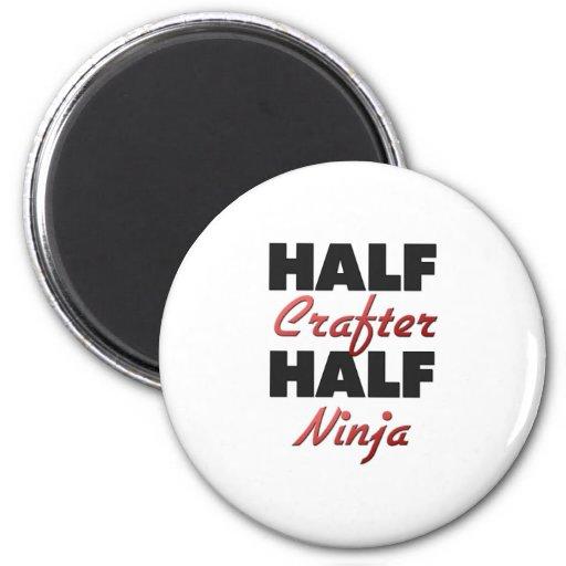 Half Crafter Half Ninja Refrigerator Magnets