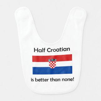 Half Croatian Baby Bibs