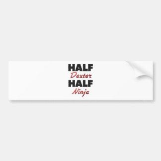 Half Dexter Half Ninja Bumper Stickers