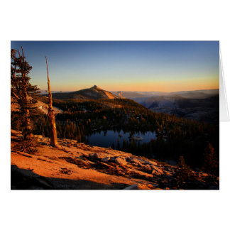Half Dome and Clouds Rest at Sunset - Yosemite Card