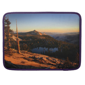 Half Dome and Clouds Rest at Sunset - Yosemite Sleeve For MacBook Pro