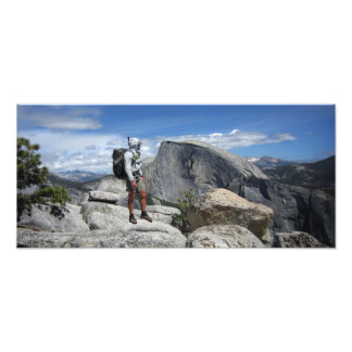 Half Dome and Hiker from North Dome - Yosemite Photograph