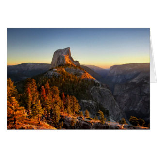 Half Dome at Sunset Detail - Yosemite Card