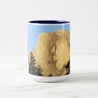 Half Dome at Sunset, Yosemite National Park Two-Tone Coffee Mug