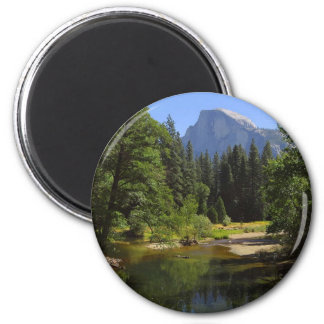 Half Dome From Sentinal Bridge Over The Merced Riv Refrigerator Magnets