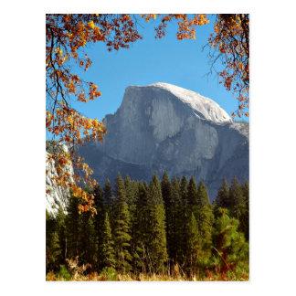 Half Dome in Autumn - Yosemite National Park Postcard