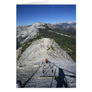 Half Dome Looking Down from the Cables - Yosemite Card