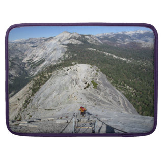 Half Dome Looking Down from the Cables - Yosemite Sleeve For MacBook Pro