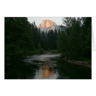 Half Dome Sunset in Yosemite National Park Card