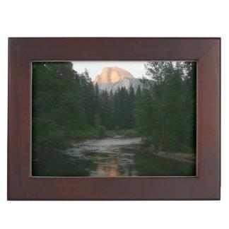Half Dome Sunset in Yosemite National Park Keepsake Boxes
