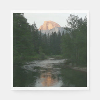 Half Dome Sunset in Yosemite National Park Paper Serviettes