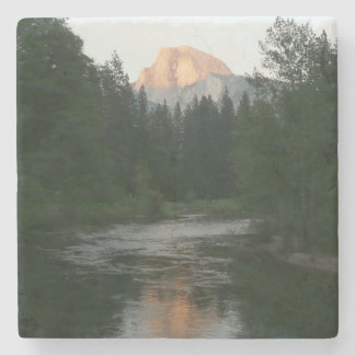 Half Dome Sunset in Yosemite National Park Stone Beverage Coaster