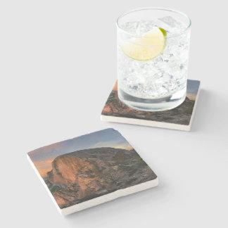 Half Dome Sunset - Yosemite Stone Beverage Coaster