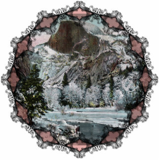 Half Dome Vintage Ornament Photo Sculpture Decoration