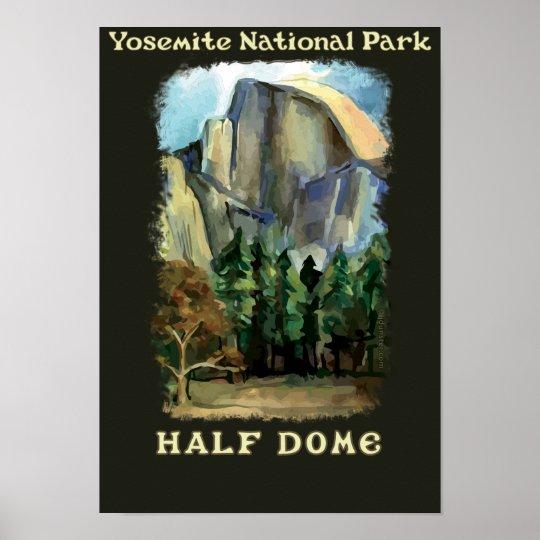 Yosemite Poster Half Dome Poster Yosemite National By: Half Dome, Yosemite National Park Vintage-style Poster