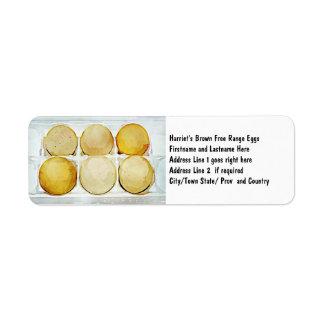 Half Dozen Brown Eggs Return Address Label