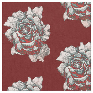 Half Drop Rose Pattern Fabric