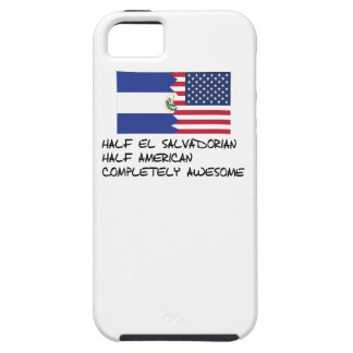Half El Salvadorian Completely Awesome Tough iPhone 5 Case