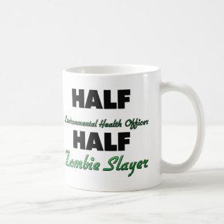 Half Environmental Health Officer Half Zombie Slay Basic White Mug