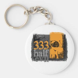 Half evil 333 key chain