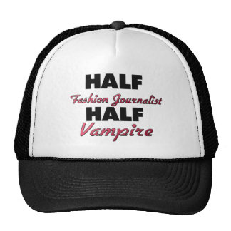 Half Fashion Journalist Half Vampire Mesh Hat