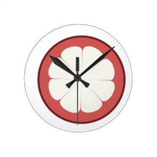 half fruit design round clock