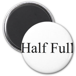 Half full 6 cm round magnet