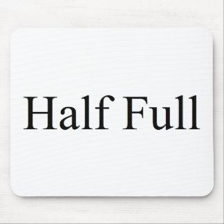 Half full mouse pad
