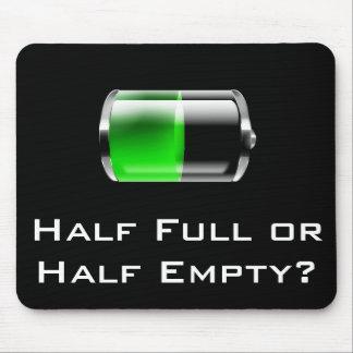 Half Full or Half Empty? - Mug Mouse Pad