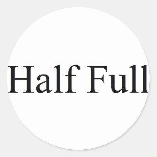 Half full round sticker