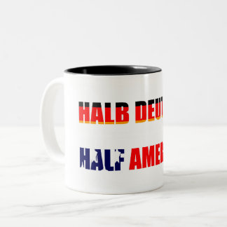 Half German and Half American Two-Tone Coffee Mug