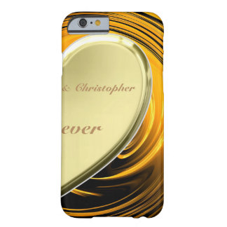 Half golden heart lover2 barely there iPhone 6 case