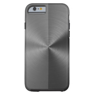 Half Grey & Half Black Radial Metal Pattern Tough iPhone 6 Case