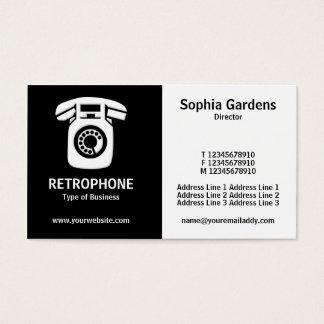 Half & Half (Wallphone) - Black and White Business Card