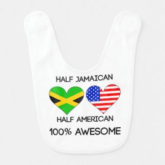 Half Jamaican Half American Bib