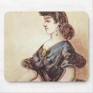 Half length portrait of a woman mouse pad