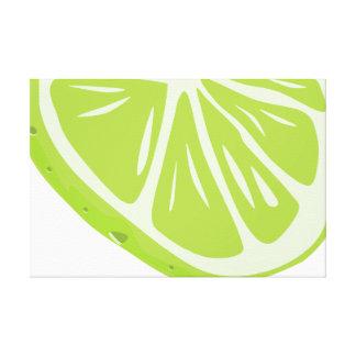 Half Lime Slice Canvas Print