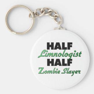 Half Limnologist Half Zombie Slayer Basic Round Button Key Ring