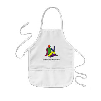 Half lord of the fishes yoga pose Sanskrit Apron