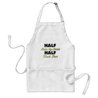 Half Make Up Artist Half Rock Star Aprons