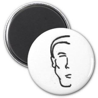 Half Man 6 Cm Round Magnet