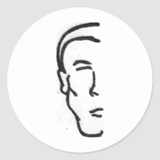Half Man Stickers