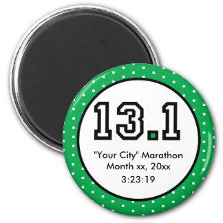 Half Marathon 13.1 6 Cm Round Magnet