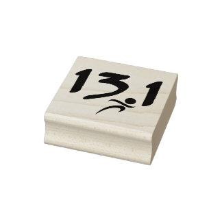 Half-marathon 13.1 Rubber Stamp