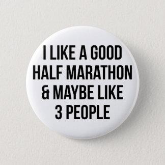 Half Marathon & 3 People 6 Cm Round Badge