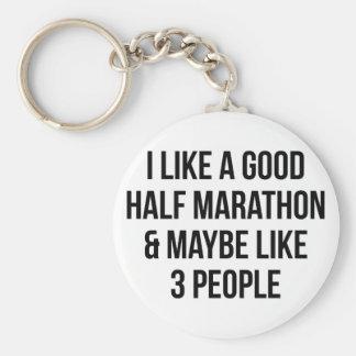Half Marathon & 3 People Key Ring